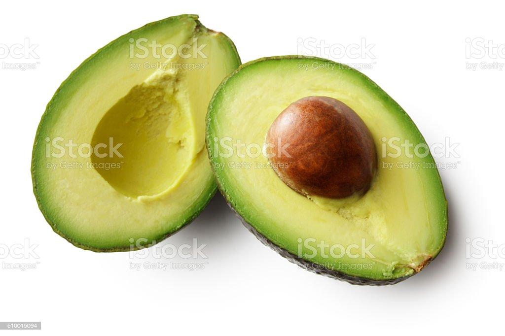 Fruit: Avocado Isolated on White Background stock photo
