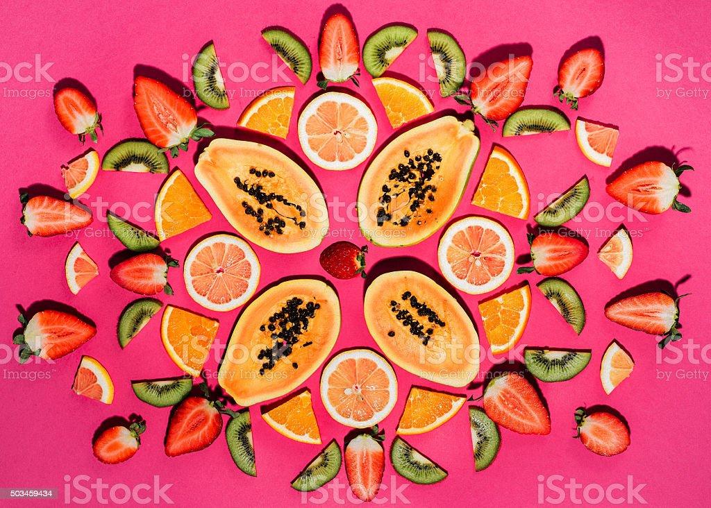 Fruit background over head photo stock photo