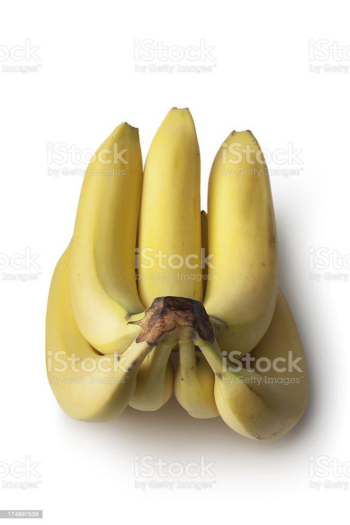 Fruit: Banana Isolated on White Background royalty-free stock photo