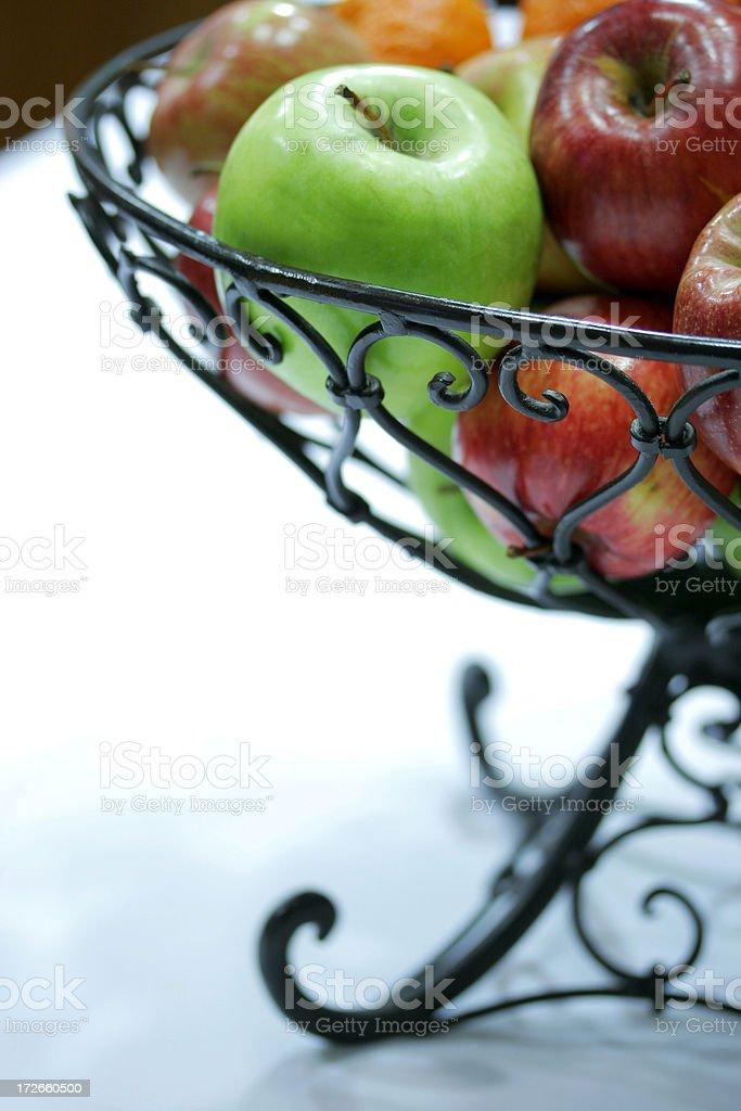 Fruit Basket of Apples royalty-free stock photo