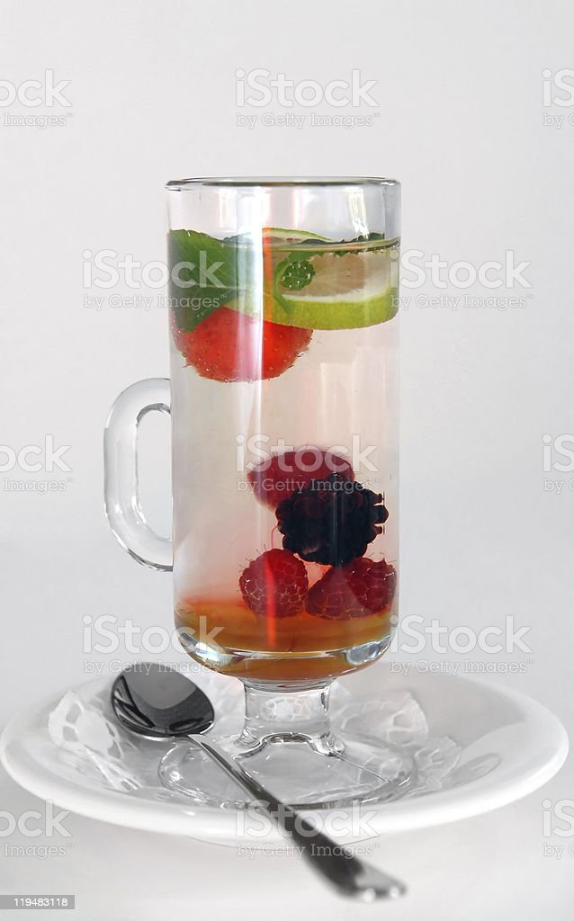 Fruit berry tea stock photo