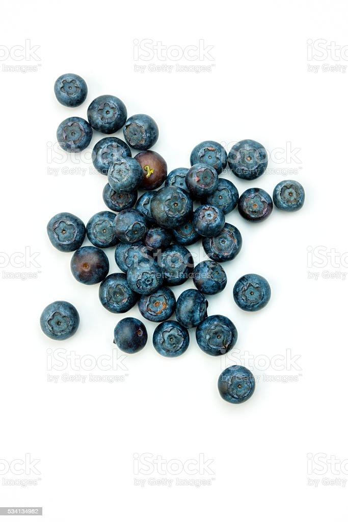 Fruit: Blueberries on white stock photo