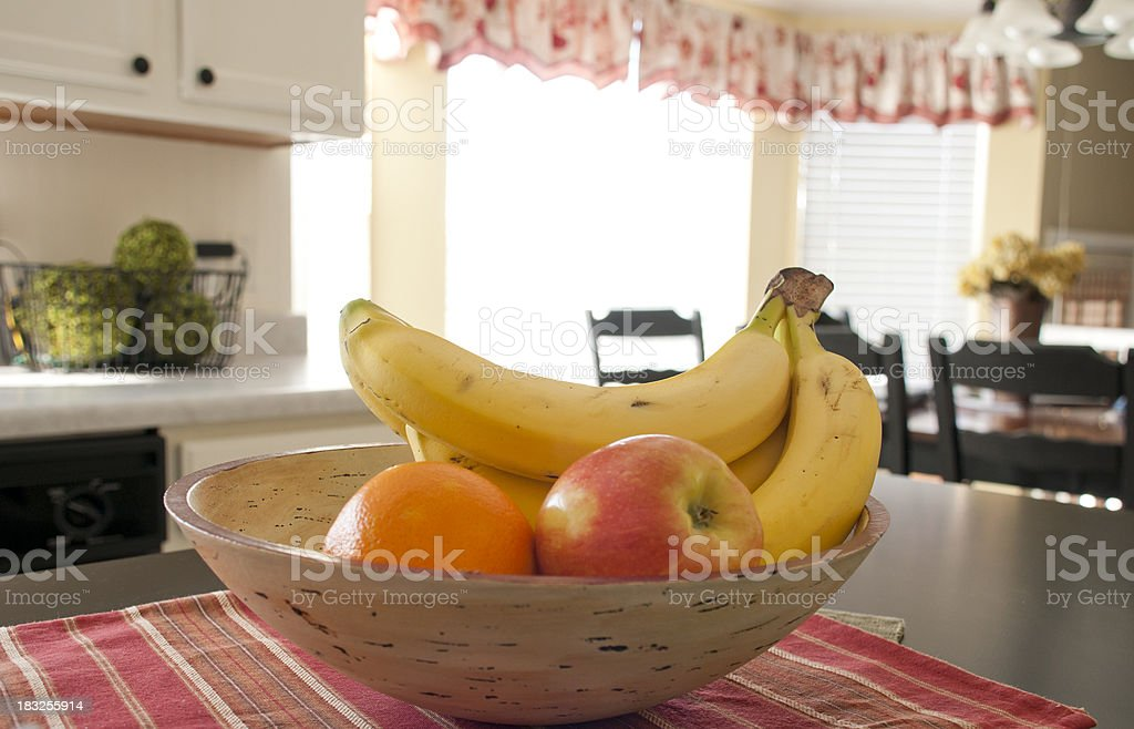 Fruit bowl in the kitchen royalty-free stock photo