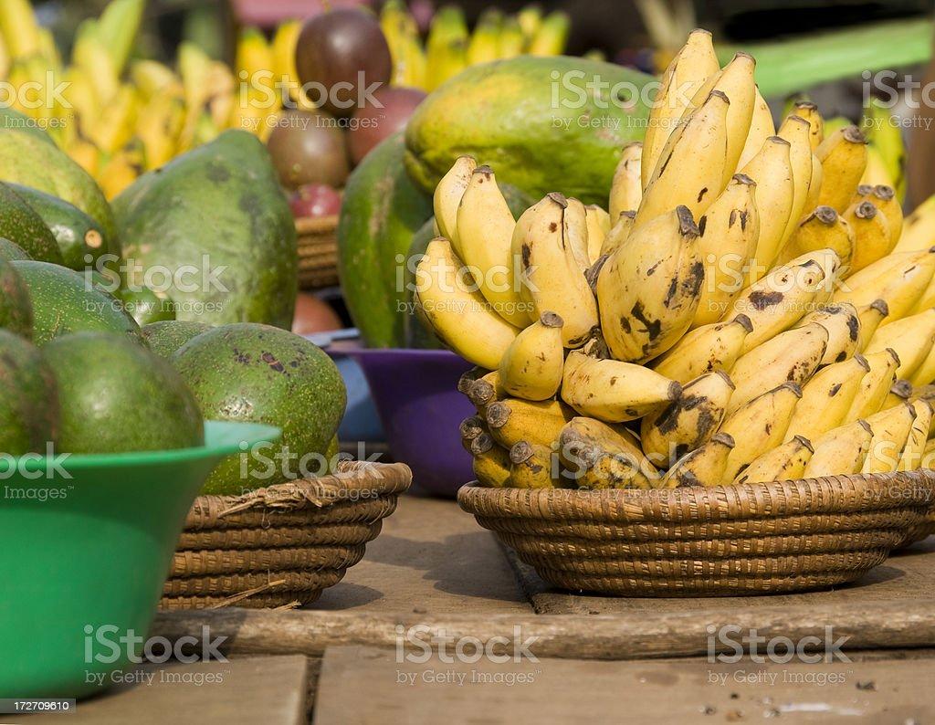 Fruit bowls stock photo