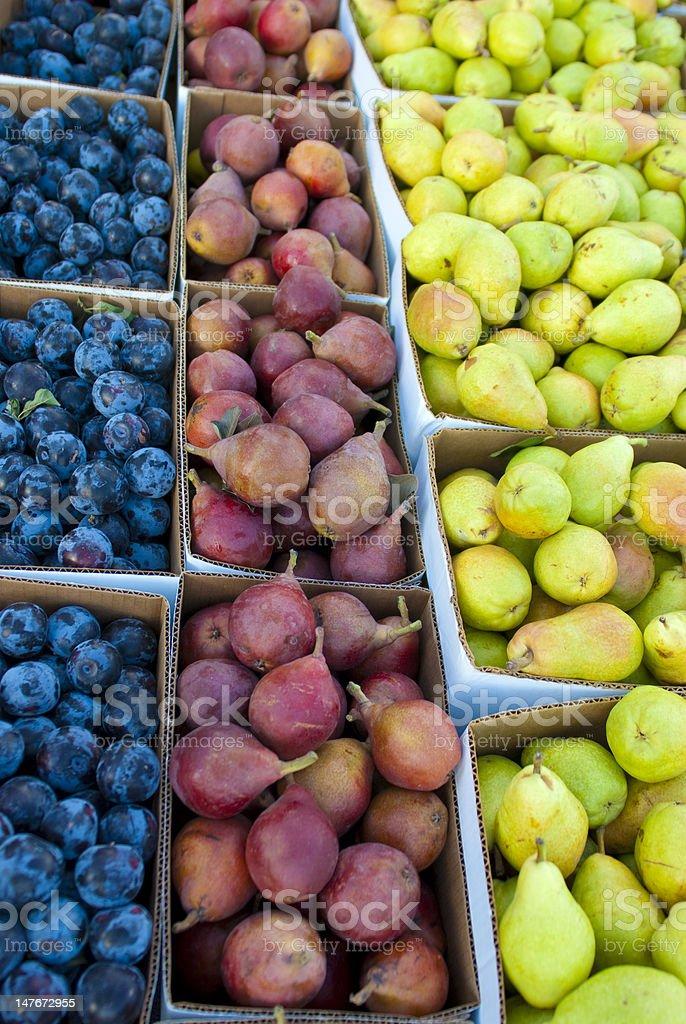 Fruit Boxes stock photo
