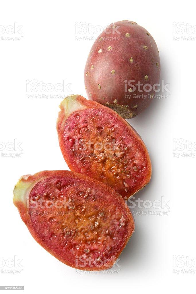 Fruit: Cactus Fruit Isolated on White Background royalty-free stock photo