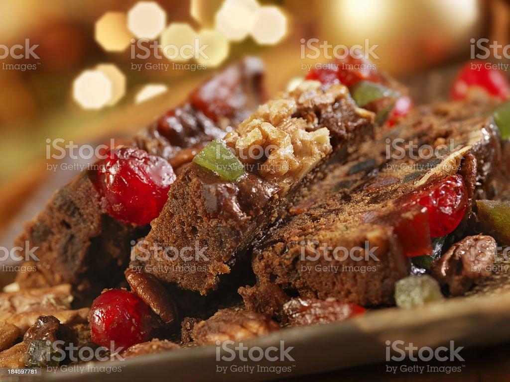 Fruit Cake at Christmas stock photo
