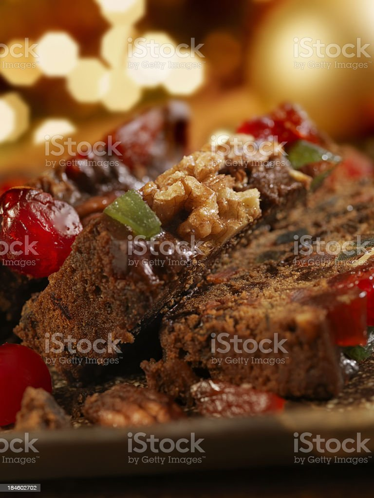 Fruit Cake at Christmas royalty-free stock photo
