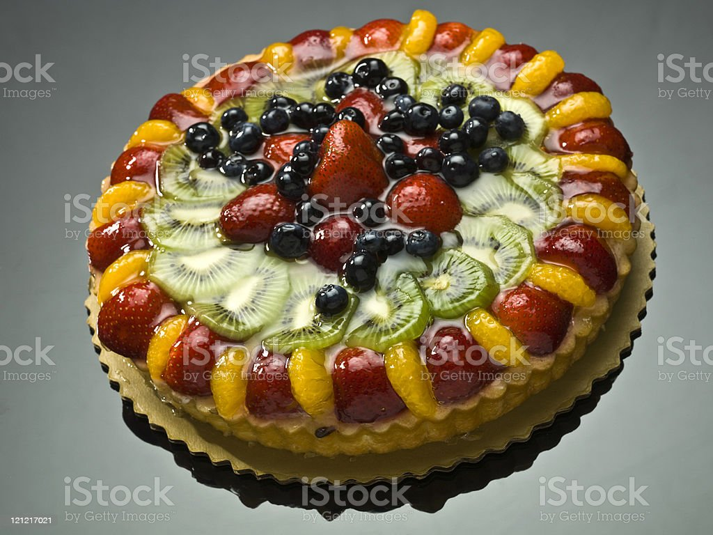 Fruit cake Close up royalty-free stock photo