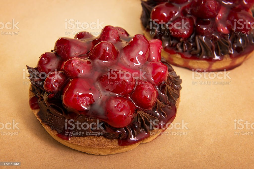 fruit cake decorated with cream royalty-free stock photo