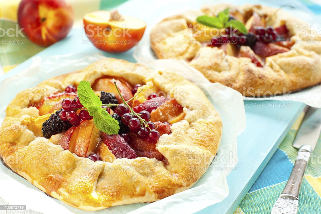 fruit galette royalty-free stock photo