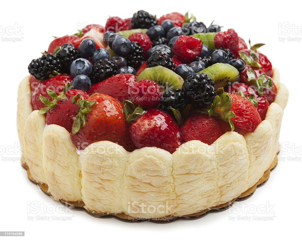 Fruit cake royalty-free stock photo