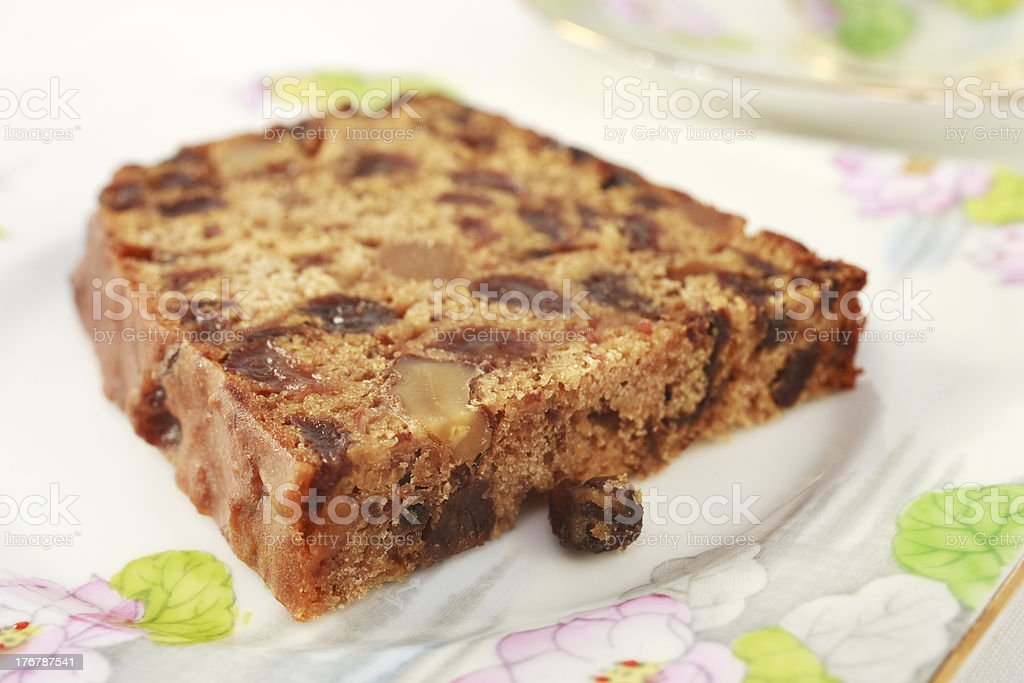 Fruit Cake with Walnuts royalty-free stock photo