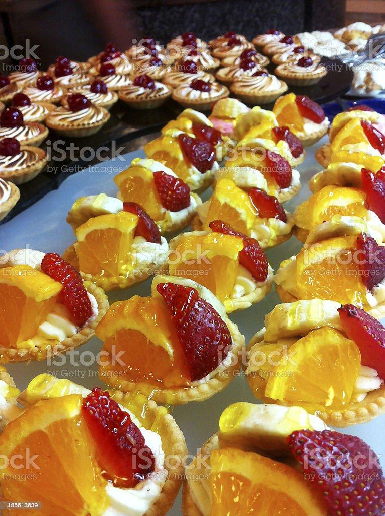 Fruit cakes royalty-free stock photo