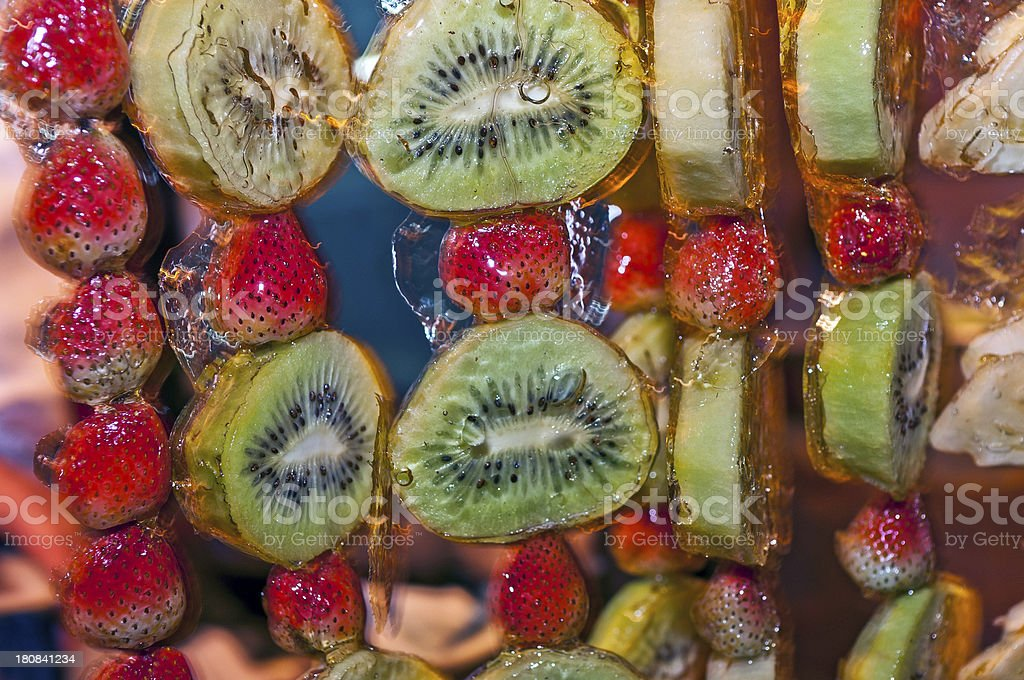 Fruit Candy at Donghuamen Night Market Beijing royalty-free stock photo