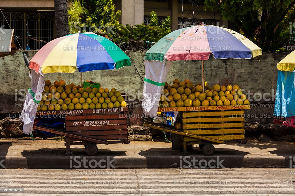 Fruit carts in Davao, Philippines stock photo