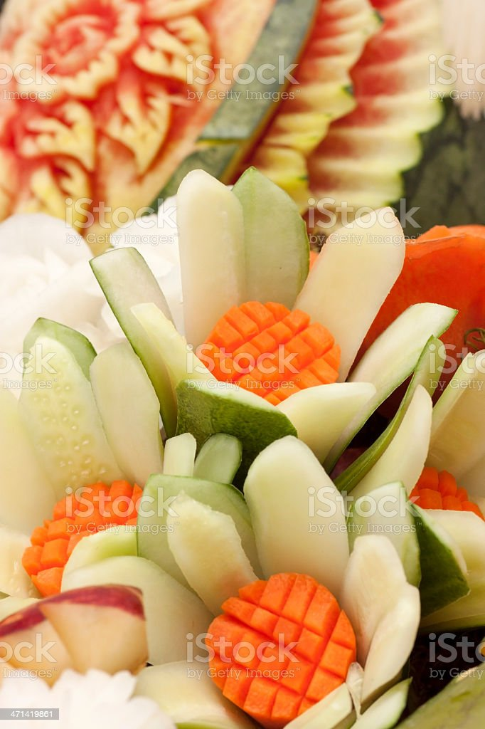 Fruit carving royalty-free stock photo