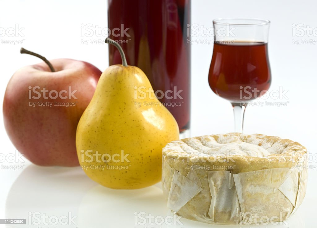 Fruit, Cheese and Porto Wine royalty-free stock photo