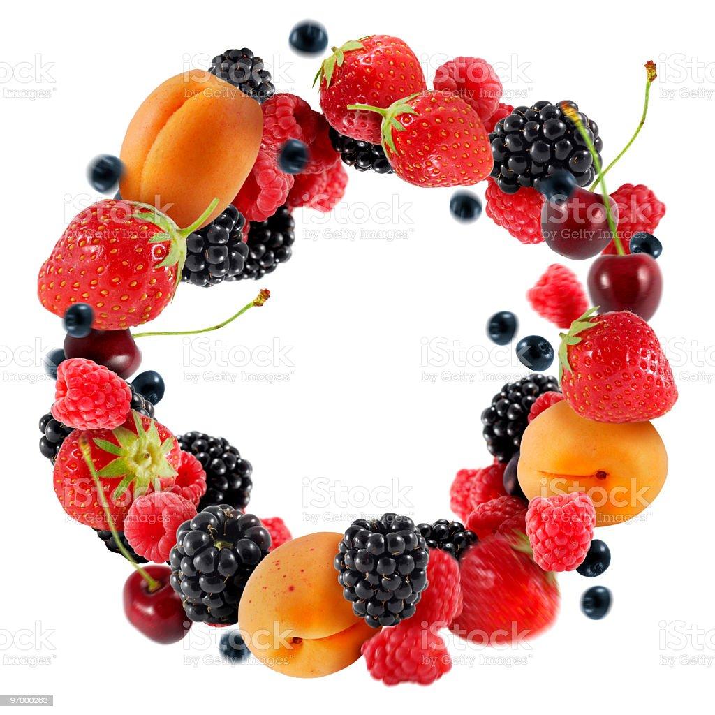Fruit circle stock photo