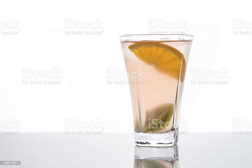 Fruit Cocktail on White royalty-free stock photo
