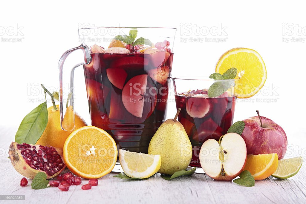 fruit cocktail stock photo