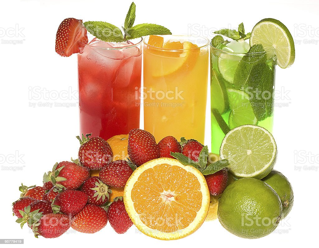 Fruits cocktails royalty-free stock photo