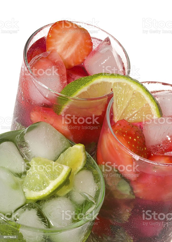 Fruits cocktails stock photo