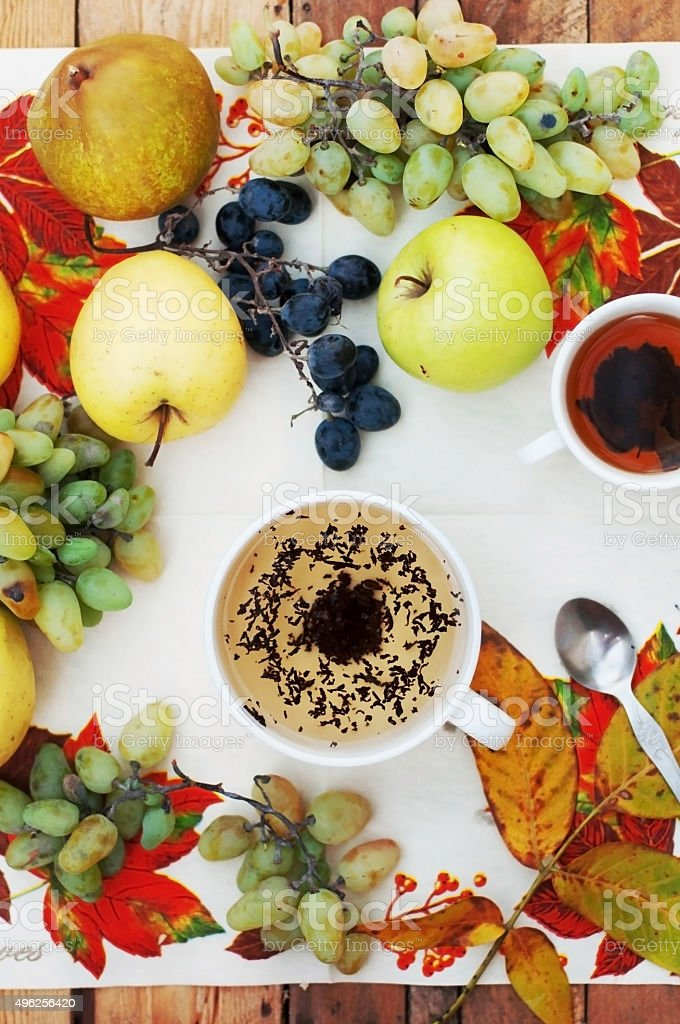 fruit,  cup of tea royalty-free stock photo