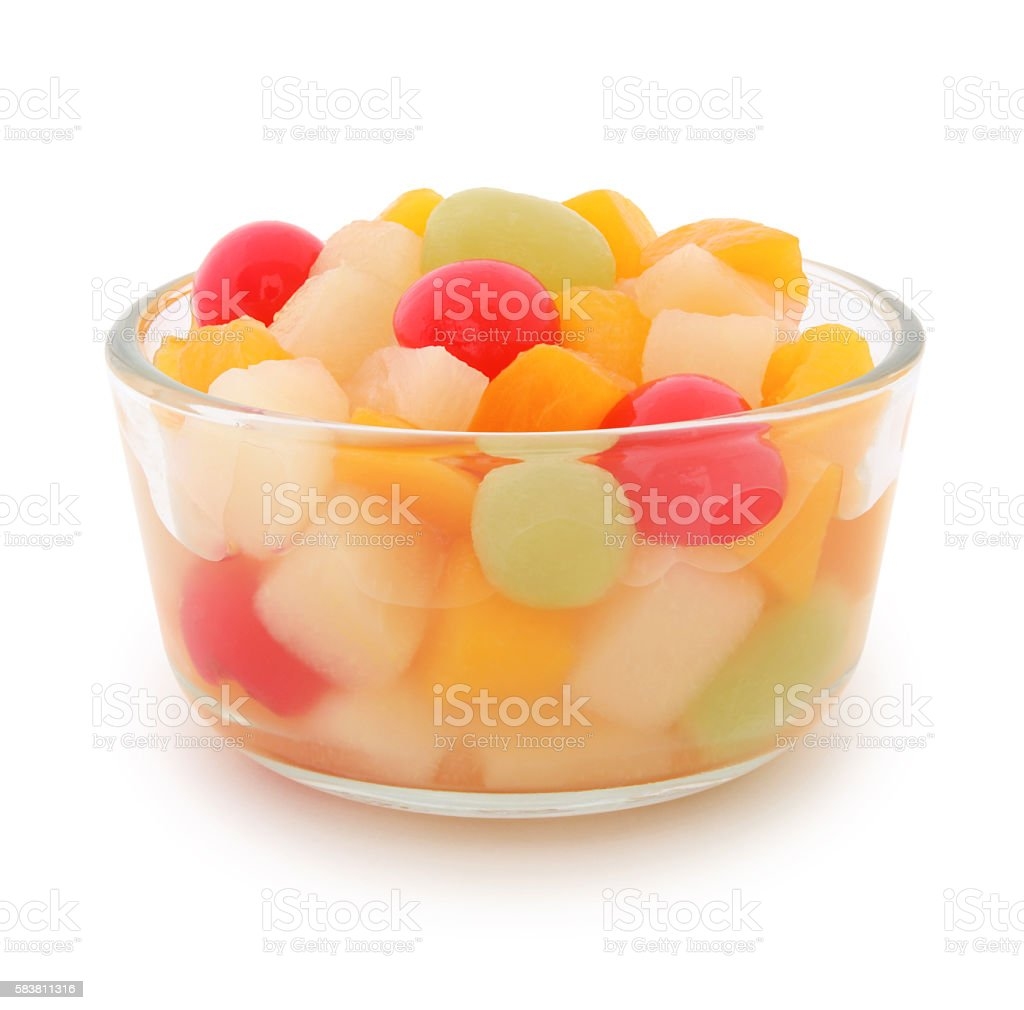 Fruit Cup (with path) stock photo