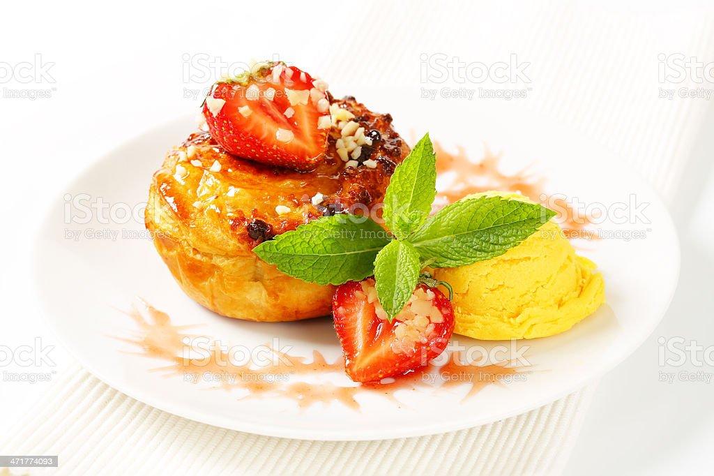 fruit cupcake and ice cream royalty-free stock photo