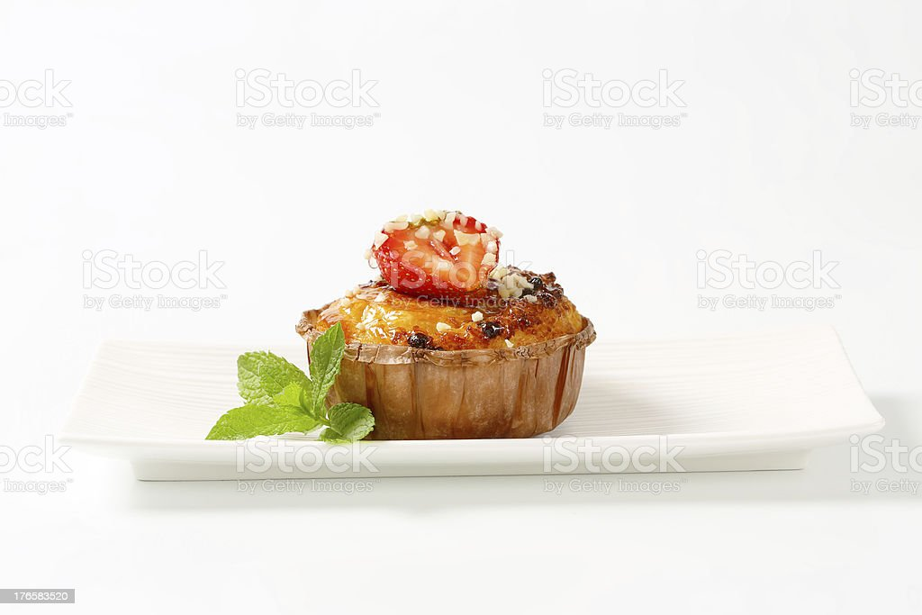 fruit cupcake royalty-free stock photo