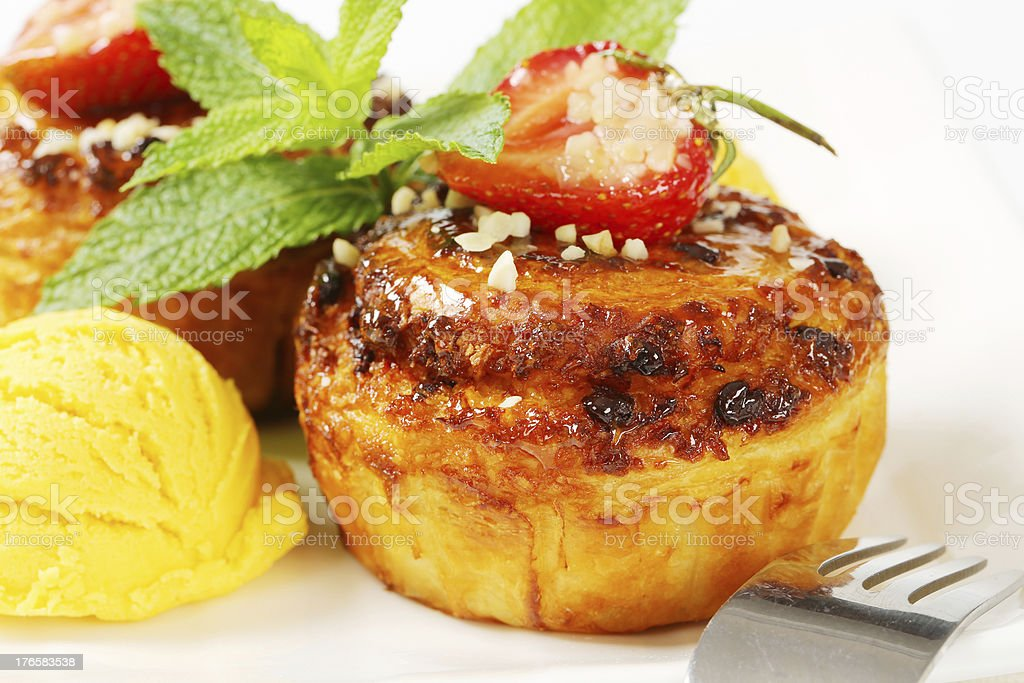 fruit cupcakes and ice cream royalty-free stock photo