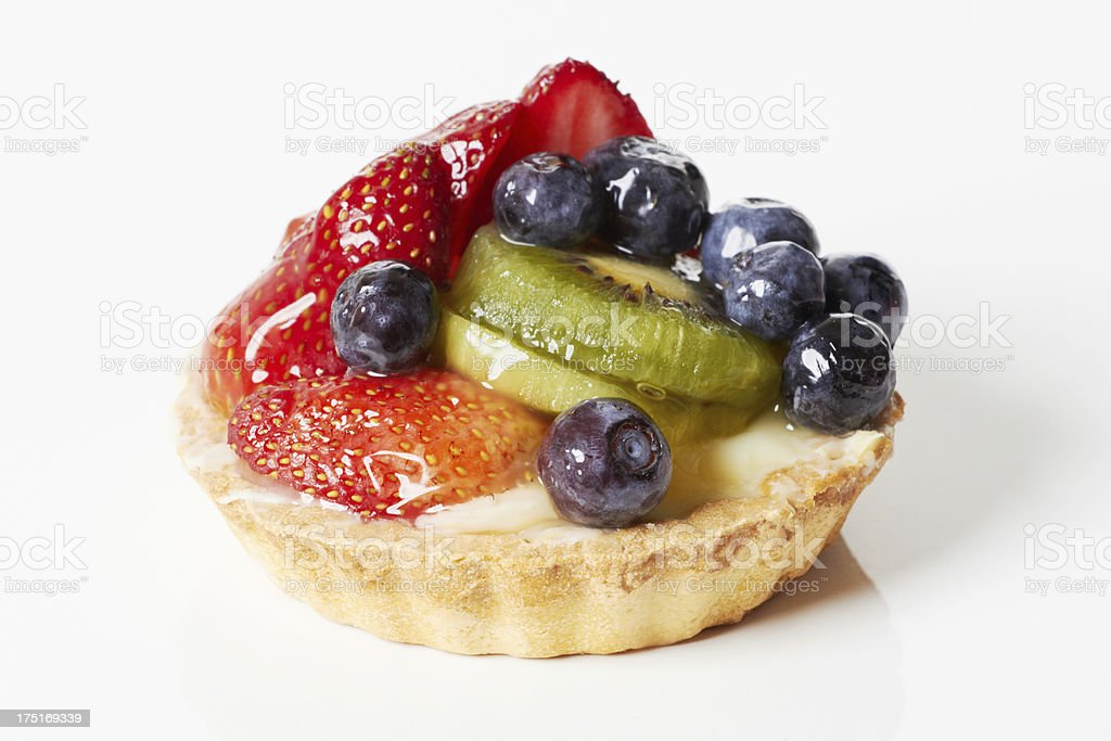 Fruit custard - berries and kiwis royalty-free stock photo