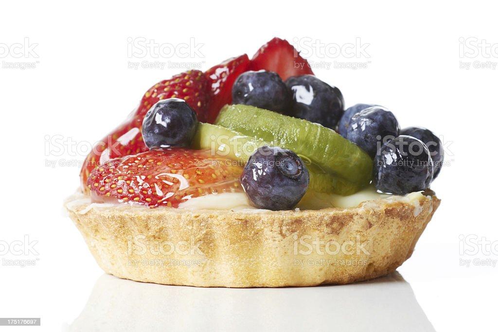 Fruit custard - berries and kiwis royalty-free stock photo