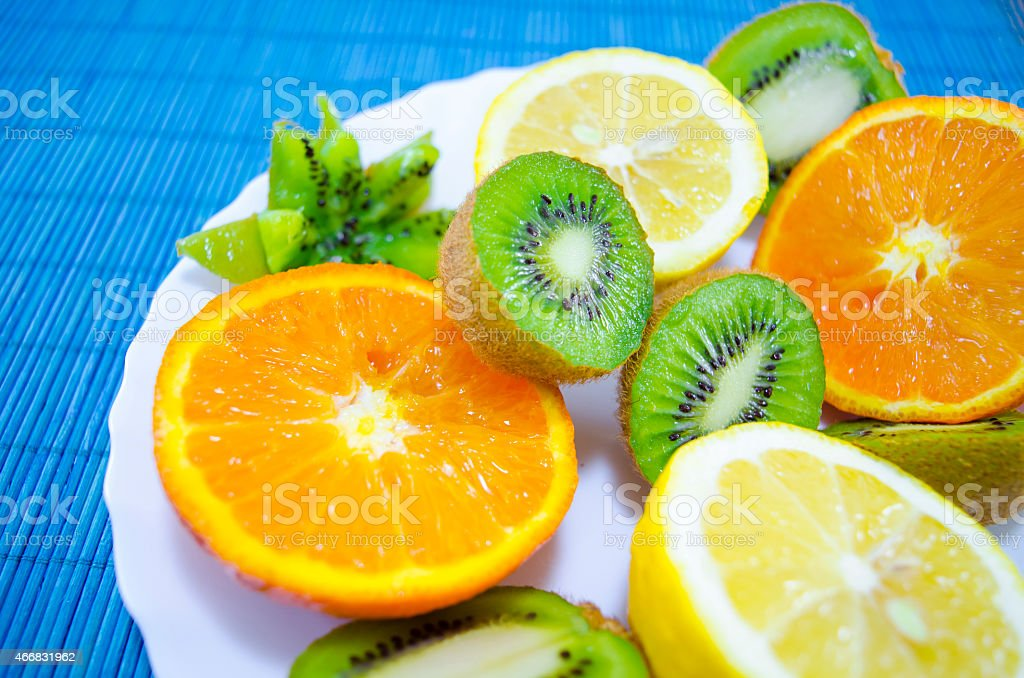 Fruit dessert on a plate royalty-free stock photo