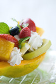 Fruit dessert plate