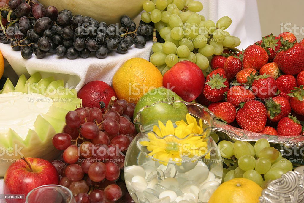 Fruit Display at Wedding royalty-free stock photo