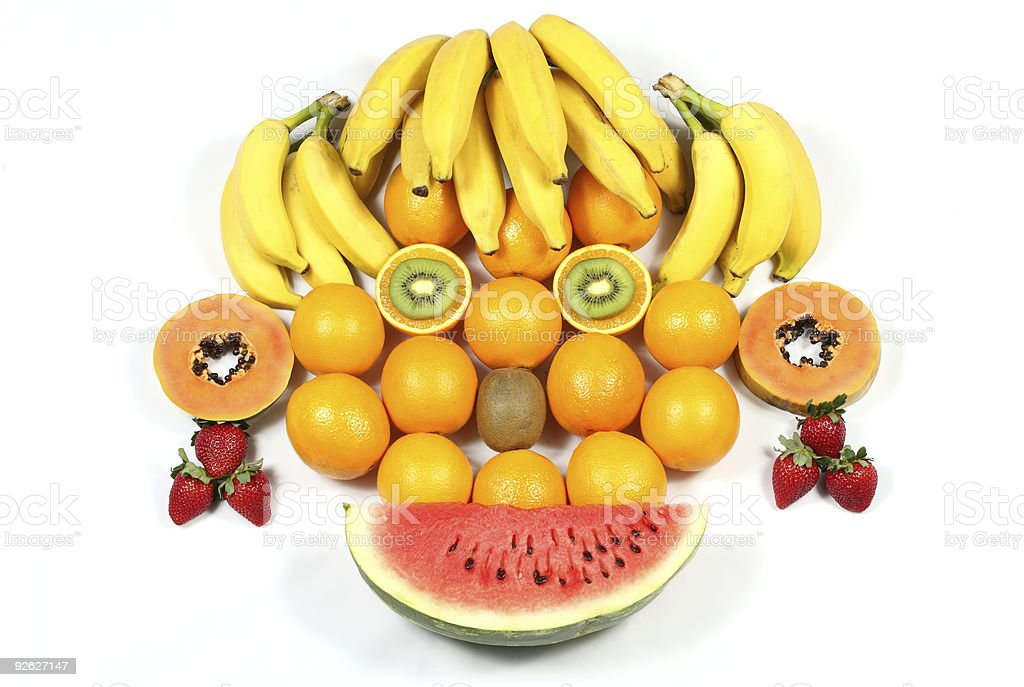 Fruit Face royalty-free stock photo