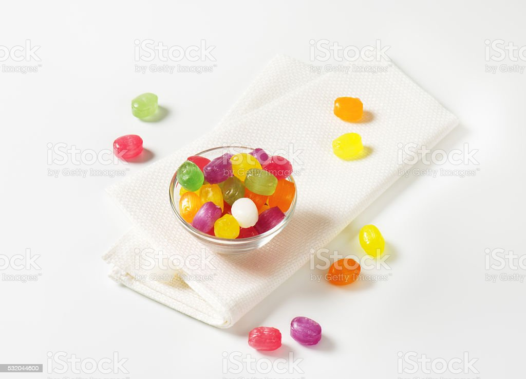 Fruit Flavored Hard Candy stock photo