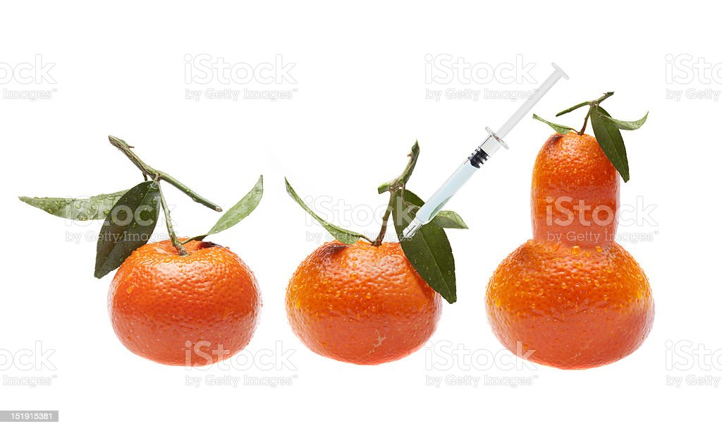 GMO fruit - Genetic modification royalty-free stock photo