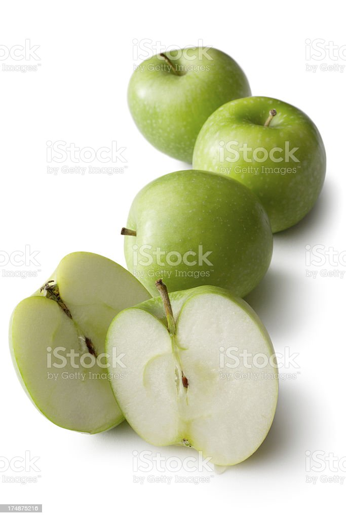 Fruit: Granny Smith Apple Isolated on White Background royalty-free stock photo