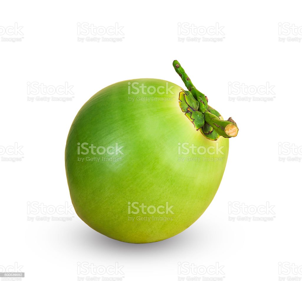 Fruit, green coconuts stock photo