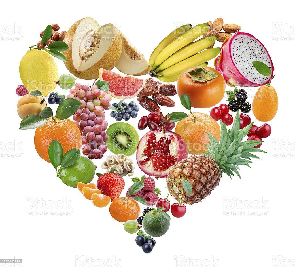 Fruit heart royalty-free stock photo
