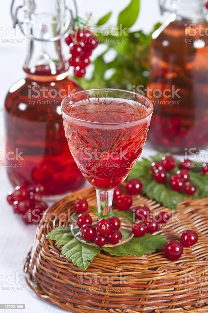 fruit homemade liqueur stock photo