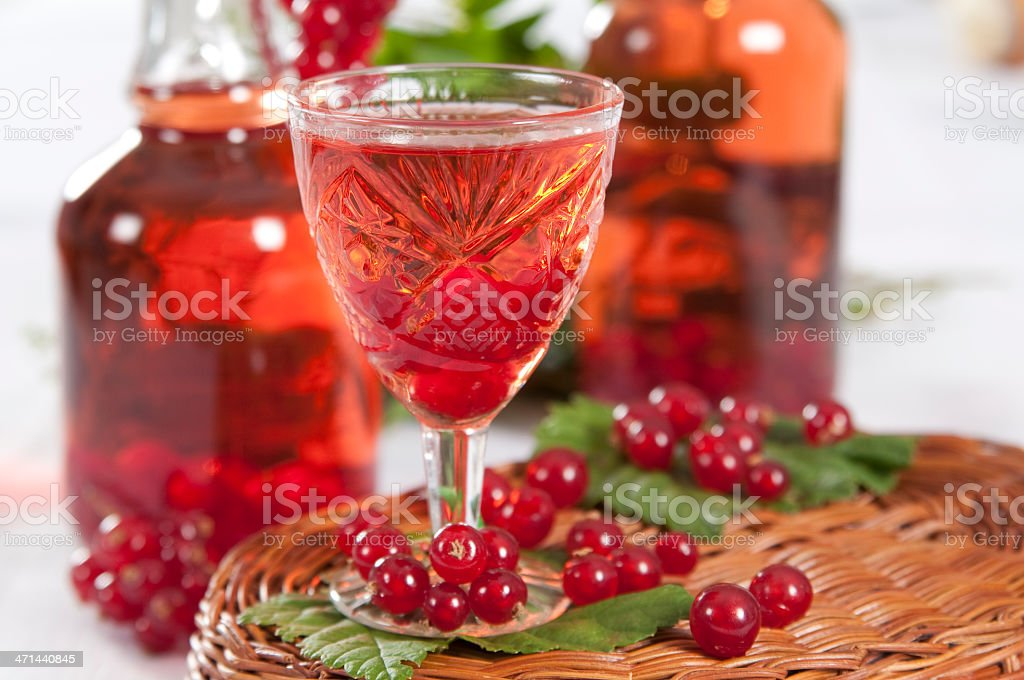 fruit homemade liqueur royalty-free stock photo