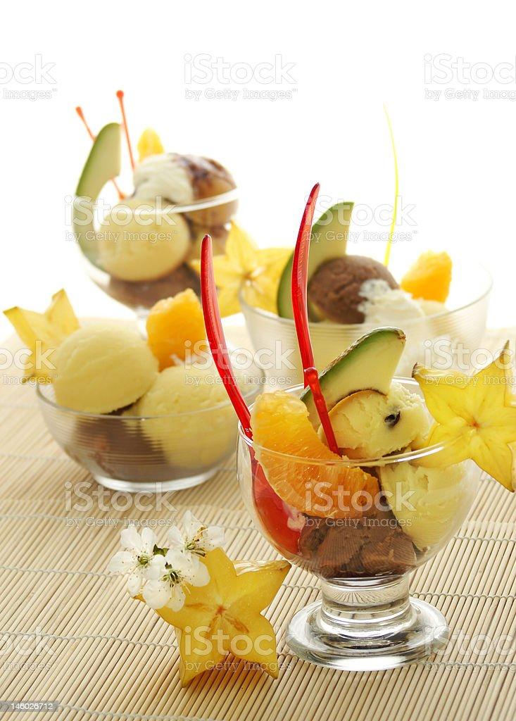 Fruit Ice Cream Cone stock photo