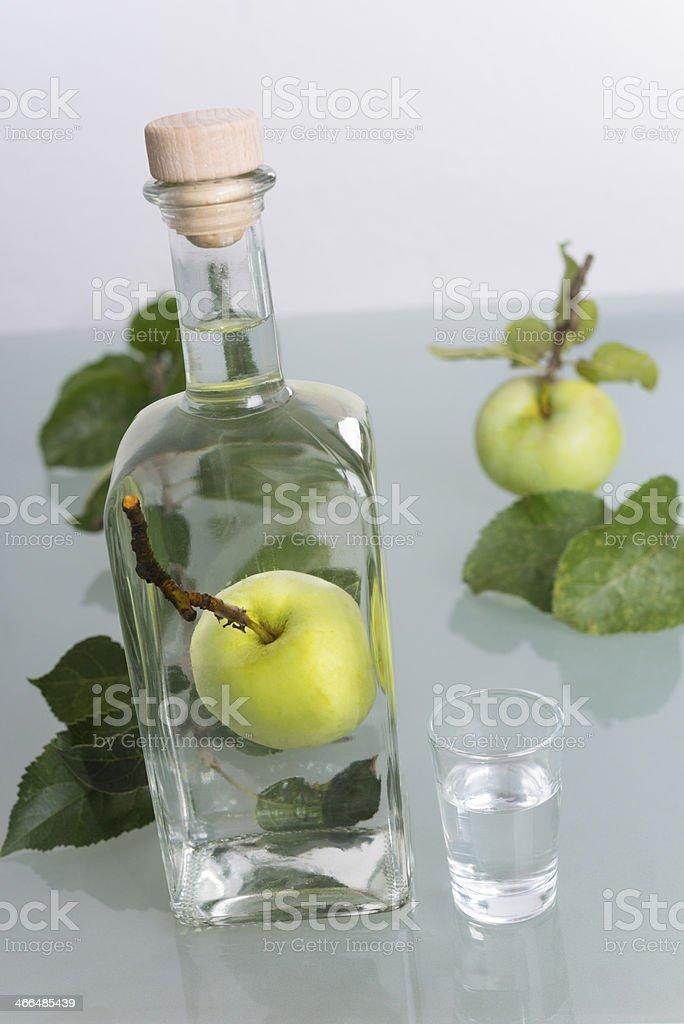 Fruit in bottle stock photo