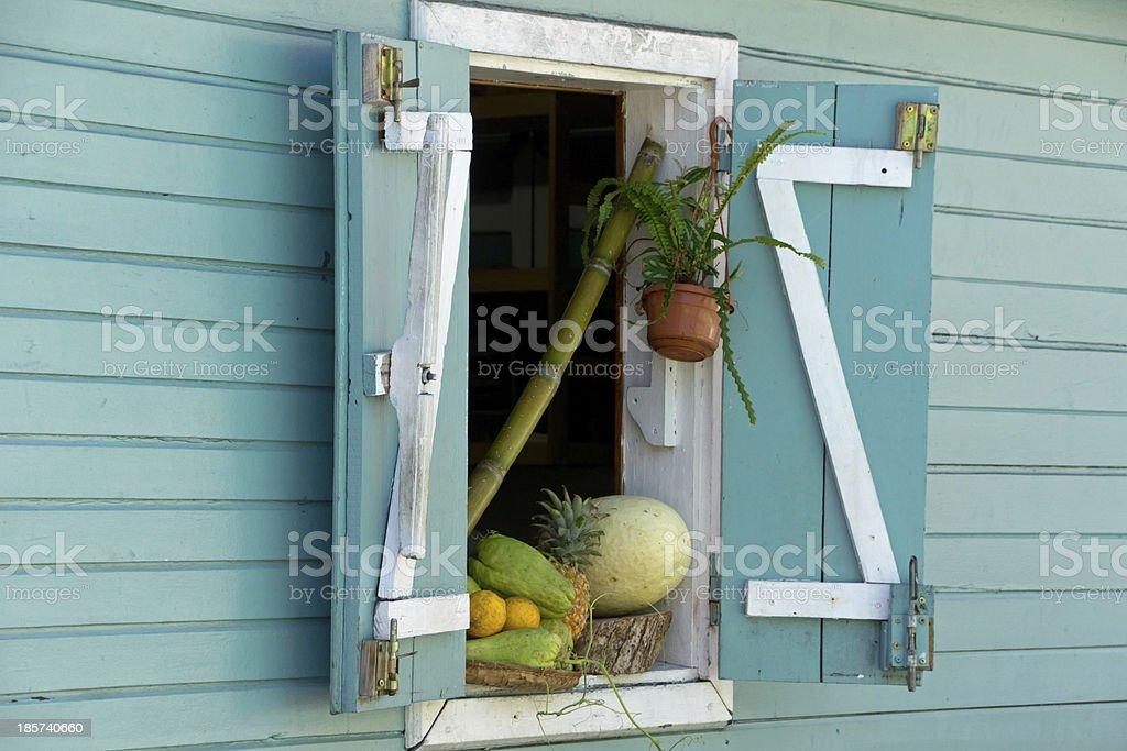 Fruit in the window stock photo