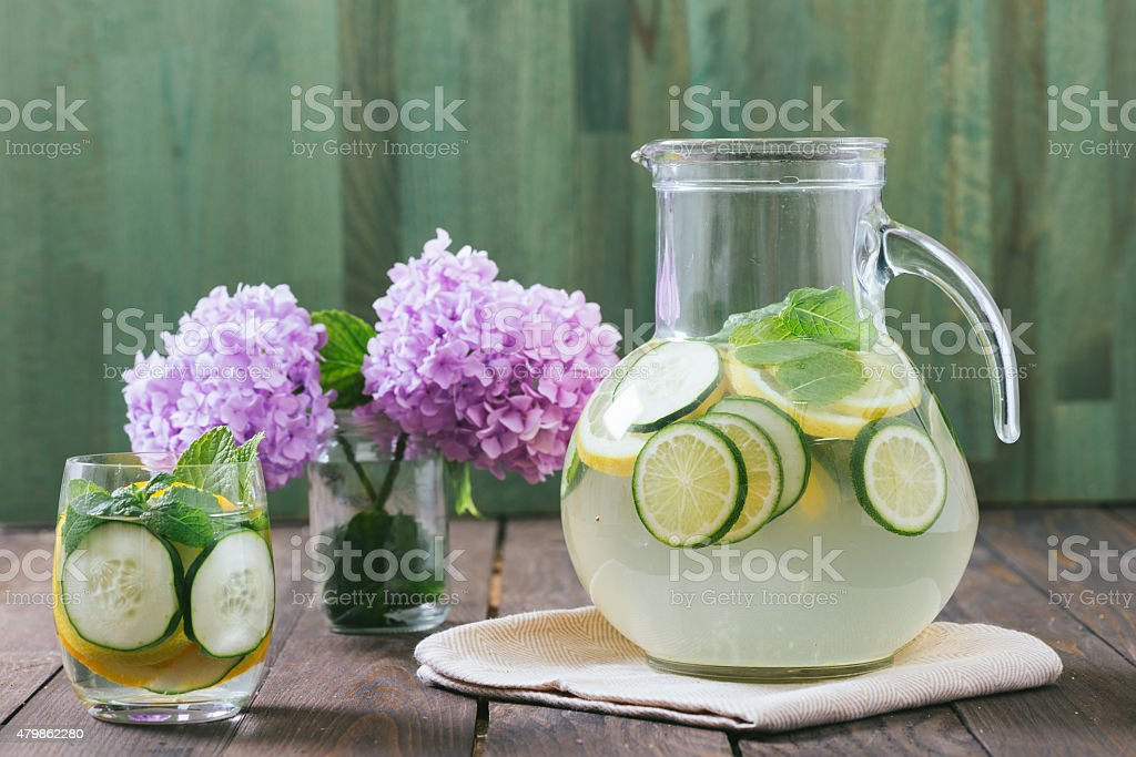 Fruit Infused Water stock photo