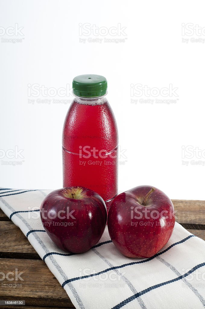 Fruit juice and apples royalty-free stock photo